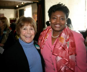 Suzi Oppenheimer and Andrea Stewart-Cousins at the Jay Estate