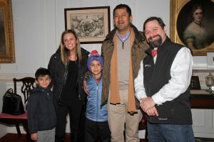 The Bakshi Family with Astronomer Jason Kendall