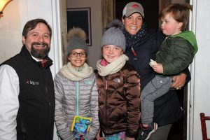 The Hanratty Family with Astronomer Jason Kendall