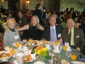 Kitty Aresty, Suzanne and Rich Clary and Michael Kovner