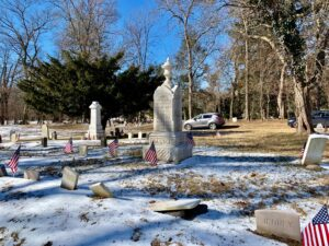 The African-American Cemetery in Rye, January 2021